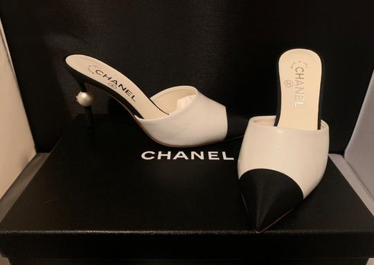 Chanel BLACK/WHITE Mules Image 1