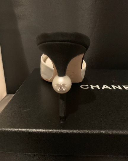 Chanel BLACK/WHITE Mules Image 2