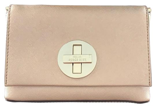 Preload https://img-static.tradesy.com/item/25816231/kate-spade-rose-gold-coated-canvas-clutch-0-1-540-540.jpg