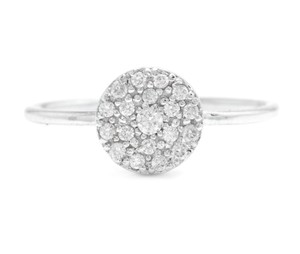 Other 0.15Ct Natural Diamond 14K Solid White Gold Ring