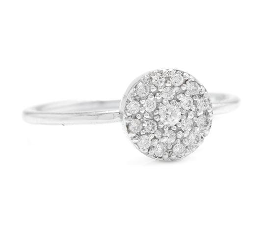 Other 0.15Ct Natural Diamond 14K Solid White Gold Ring Image 1