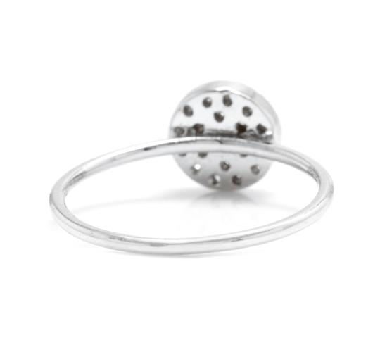 Other 0.15Ct Natural Diamond 14K Solid White Gold Ring Image 2