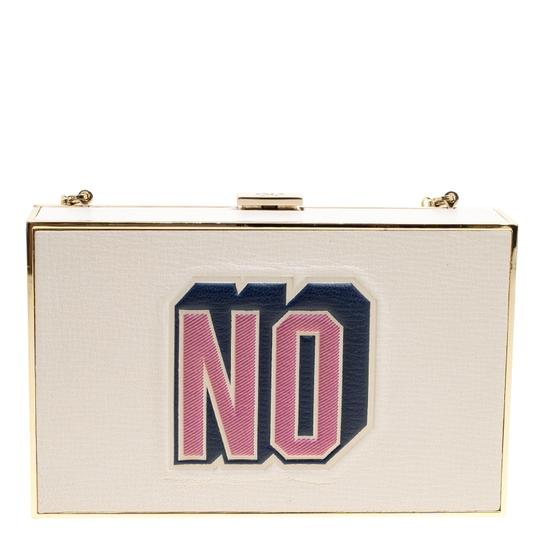 Anya Hindmarch Leather Suede White Clutch Image 1