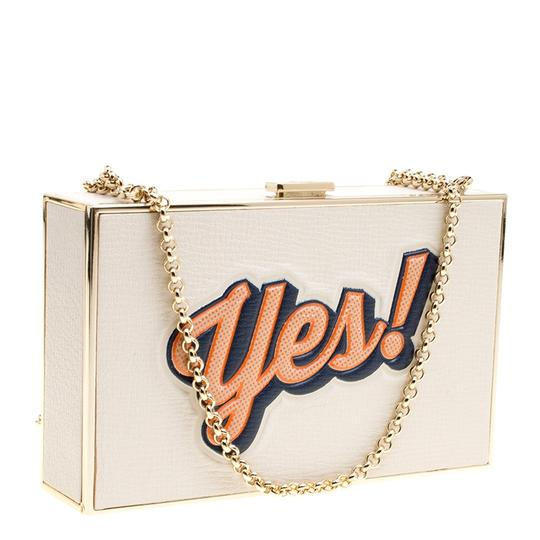 Anya Hindmarch Leather Suede White Clutch Image 3