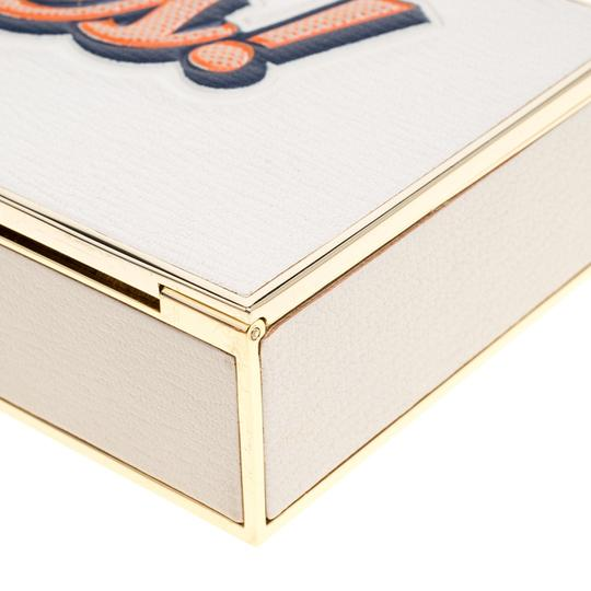 Anya Hindmarch Leather Suede White Clutch Image 6