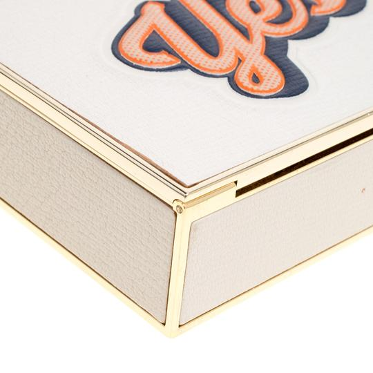 Anya Hindmarch Leather Suede White Clutch Image 7