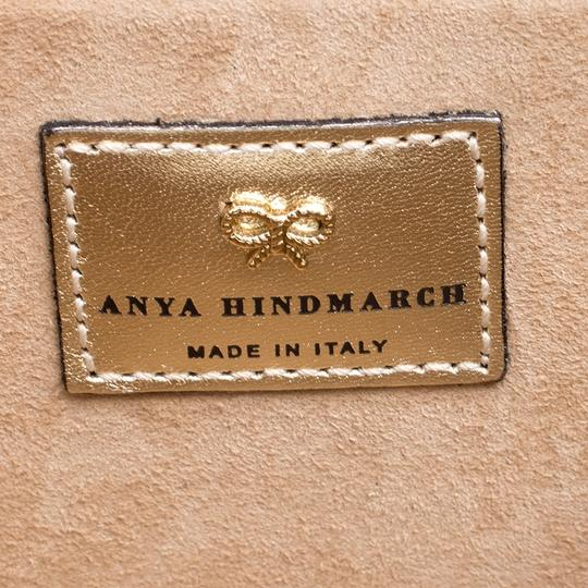 Anya Hindmarch Leather Suede White Clutch Image 9