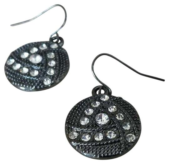 Preload https://img-static.tradesy.com/item/25816273/black-avant-garde-gunmetal-swarovski-crystal-round-drop-earrings-0-1-540-540.jpg
