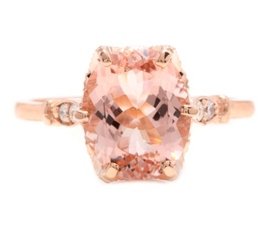 Preload https://img-static.tradesy.com/item/25816339/rose-gold-360-carats-natural-morganite-and-diamond-14k-solid-ring-0-0-540-540.jpg