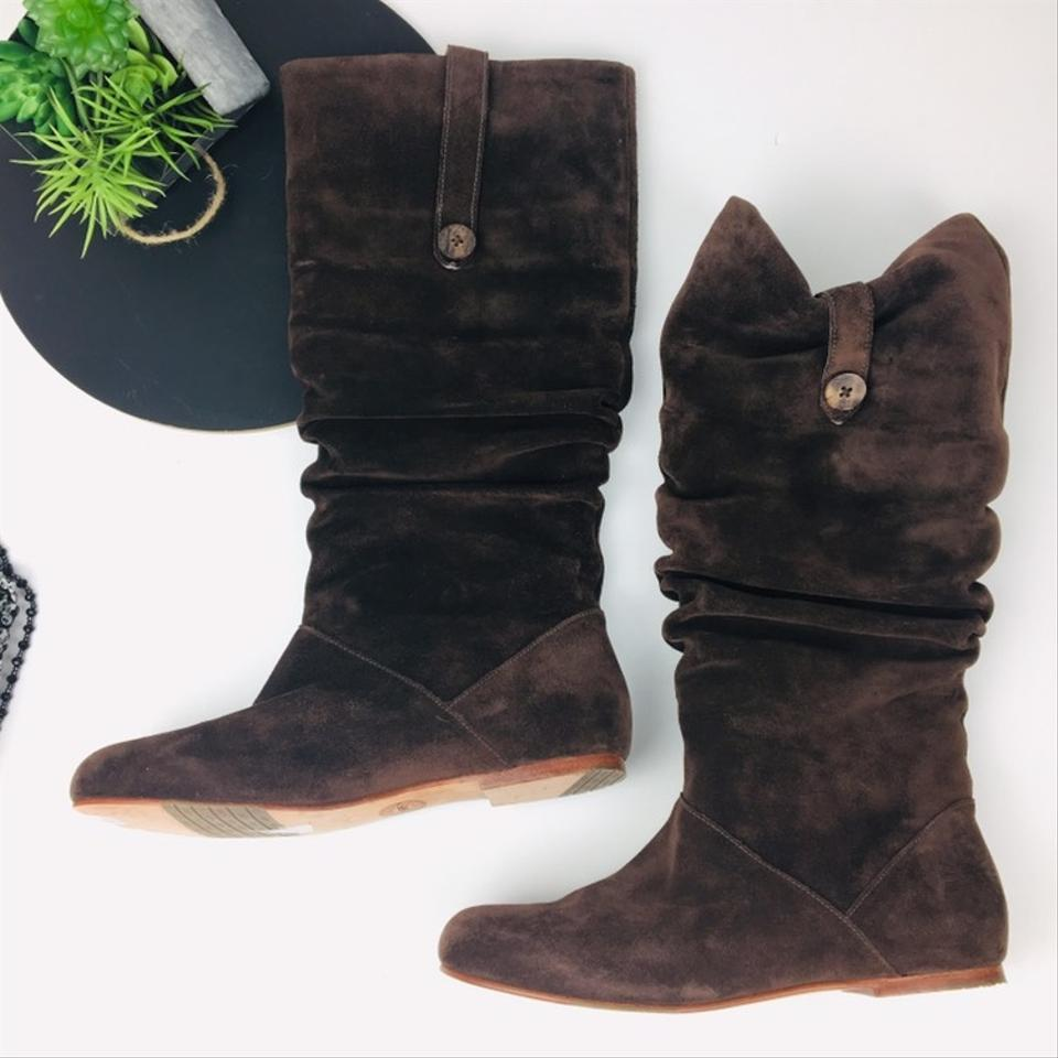 56d971697b2 UGG Australia Brown Highkoo Amber Suede Slouch Boots/Booties Size US 9  Regular (M, B) 60% off retail