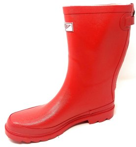 Forever Young Midcalf Rubber Rainboots Wellies Galoshes Red Boots