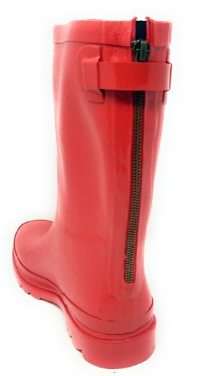Forever Young Midcalf Rubber Rainboots Wellies Galoshes Red Boots Image 1