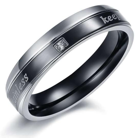 Silver/Black Bogo Free 2c Matching Couples Ring Free Shipping Jewelry Set