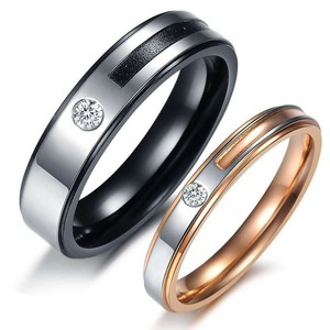 Valentine's Day Sale 2pc Matching Stainless Wedding Band Set Free Shipping