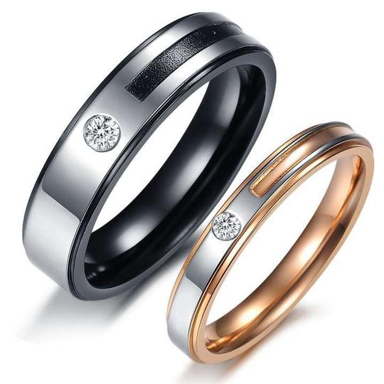 Preload https://item1.tradesy.com/images/silverblackrose-gold-bogo-free-2pc-couples-ring-set-free-shipping-men-s-wedding-band-258165-0-0.jpg?width=440&height=440