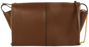 Céline Tri-fold Calfskin Brown Clutch