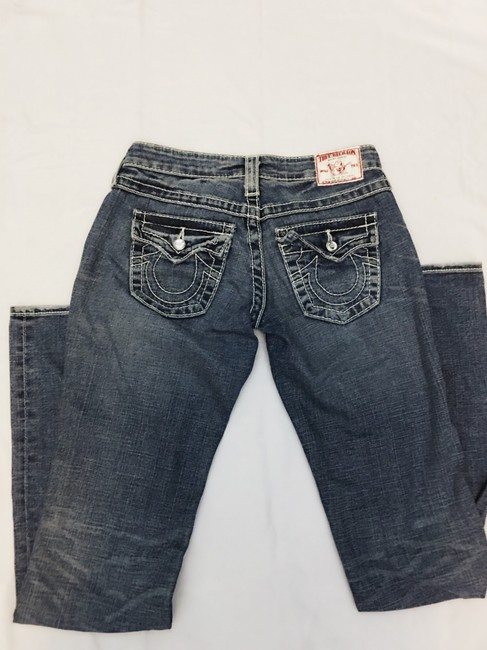 True Religion Boot Cut Jeans-Distressed Image 4