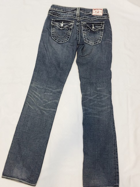 True Religion Boot Cut Jeans-Distressed Image 6