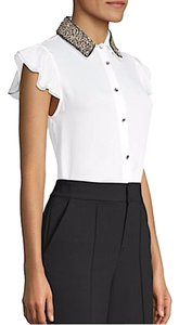 Alice + Olivia Button Down Shirt withe with tag silk