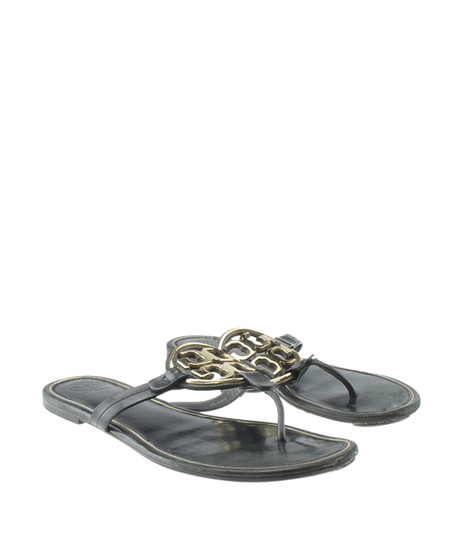 Tory Burch Leather Black Sandals Image 1