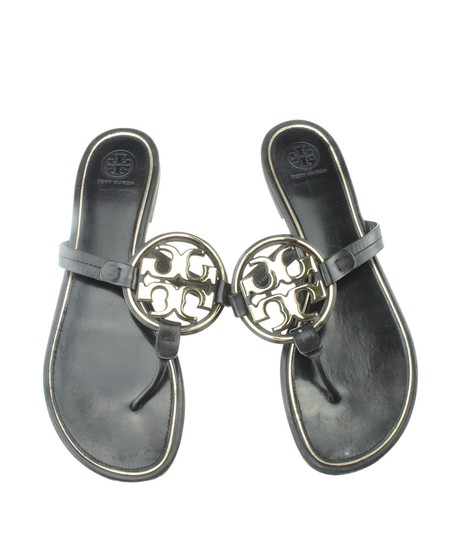 Tory Burch Leather Black Sandals Image 4