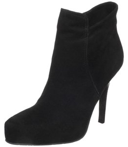 Diego di Lucca Suede Padded Insole Hidden Platform Elegant Black Boots