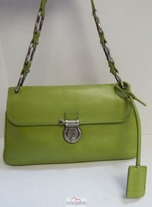 Burberry Leather Flap Locking Italy Shoulder Bag
