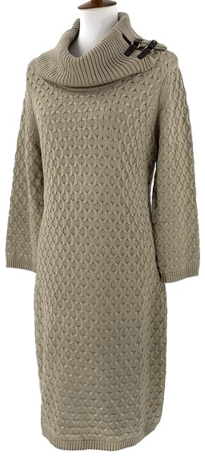 Item - Taupe New Sweaterdress Mid-length Work/Office Dress Size 12 (L)