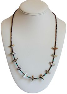 Mother of Pearl Vintage Native American Indian Fetish Mother of Pearl Bird Necklace