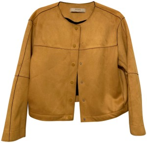 Zara Suede yellow Jacket