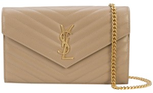 Saint Laurent Monogram Chain Chain Envelope Chain Cross Body Bag