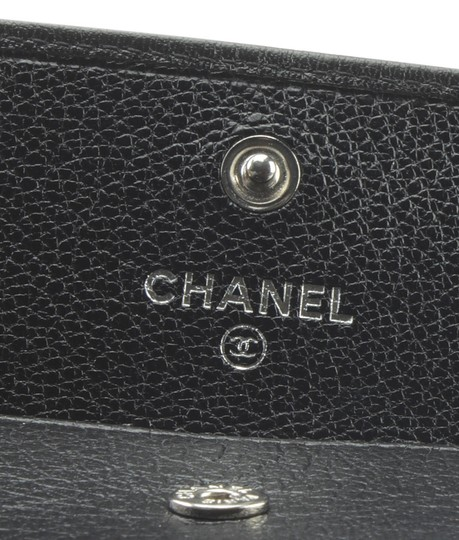 Chanel Chanel A33928 Vintage Key Pouch Black Solid Leather Key Ring (175493) Image 8