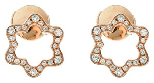 Montblanc Emblem 4810 Diamond 18k Rose Gold Stud Earrings