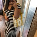 MCM Tote in yellow, white with gold hardware Image 2