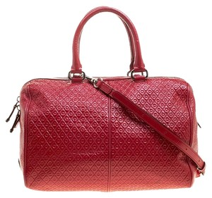Tod's Patent Leather Signature Satchel in Red