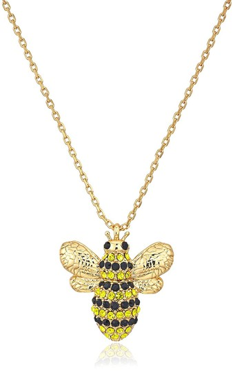 Kate Spade NEW 12K Gold Picnic Perfect Pavé Bee Necklace Image 5