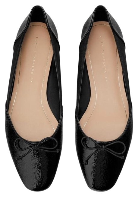 Item - Black Ballet with Bow Flats Size US 7.5 Regular (M, B)