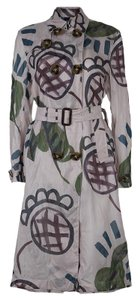 Burberry Belted Cotton Silk Trench Coat
