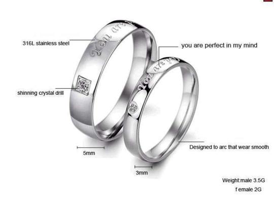 Silver Bogo Free 2pc Ring You Are Perfect In My Mind Free Shipping Jewelry Set