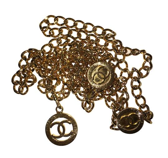 Chanel Chanel 18 kt Gold Plated Monogrammed Coin Triple Strand Necklace Image 1