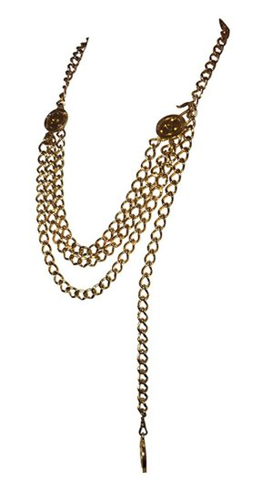 Chanel Chanel 18 kt Gold Plated Monogrammed Coin Triple Strand Necklace Image 2