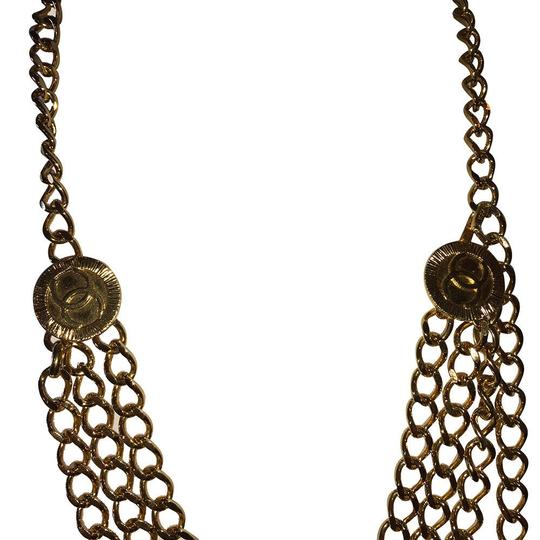 Chanel Chanel 18 kt Gold Plated Monogrammed Coin Triple Strand Necklace Image 5