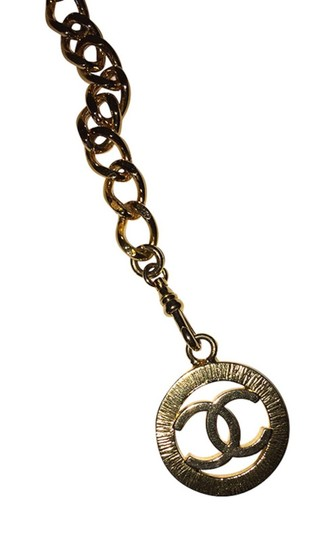 Chanel Chanel 18 kt Gold Plated Monogrammed Coin Triple Strand Necklace Image 6