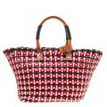 Balenciaga Leather Woven Tote in Multicolor Image 1