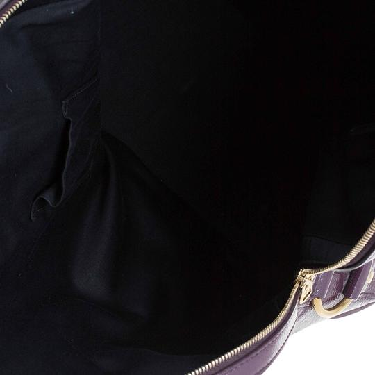 Saint Laurent Fabric Leather Oversized Tote in Purple Image 5