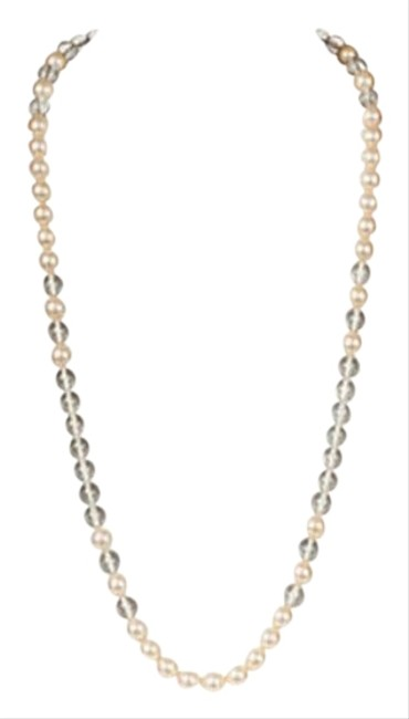 Item - Silver Ysl Lucite & Faux-pearl Necklace