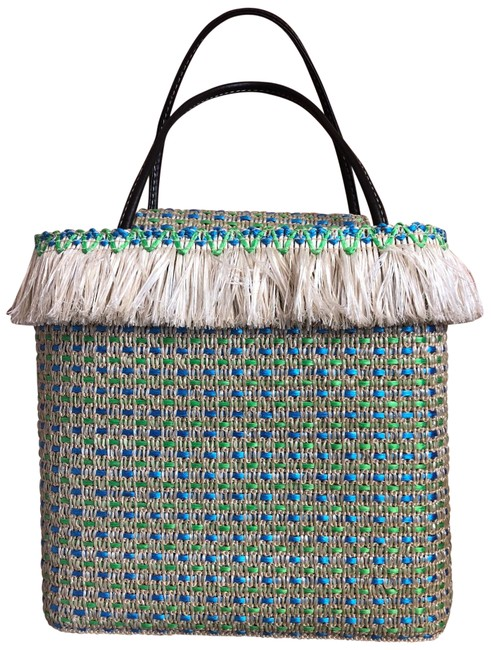 Item - New York Multi Colored Straw Tote