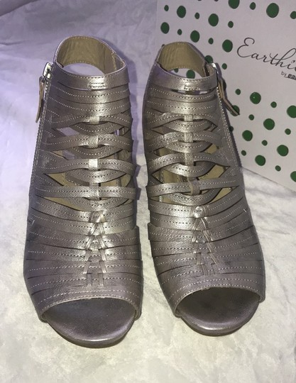 Earthies silver Mules Image 1