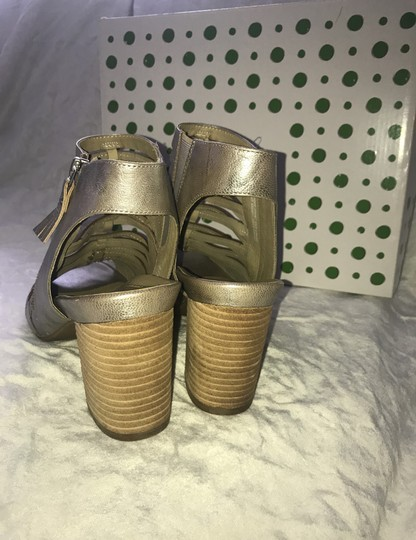 Earthies silver Mules Image 3
