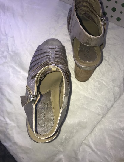Earthies silver Mules Image 4